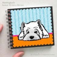West Highland Terrier - liegend blau