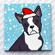 Xmas Boston Terrier