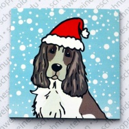 Xmas Cocker Spaniel black & white