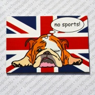 Englische Bulldogge no sports Union Jack