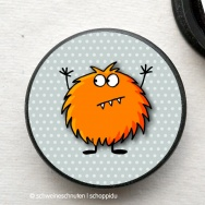 Zappelmonster orange rund