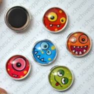5er Set Bubblemonster - Minimagnete
