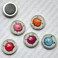 5er Set Zappelmonster - Minimagnete Set 2