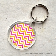 Chevron pink orange